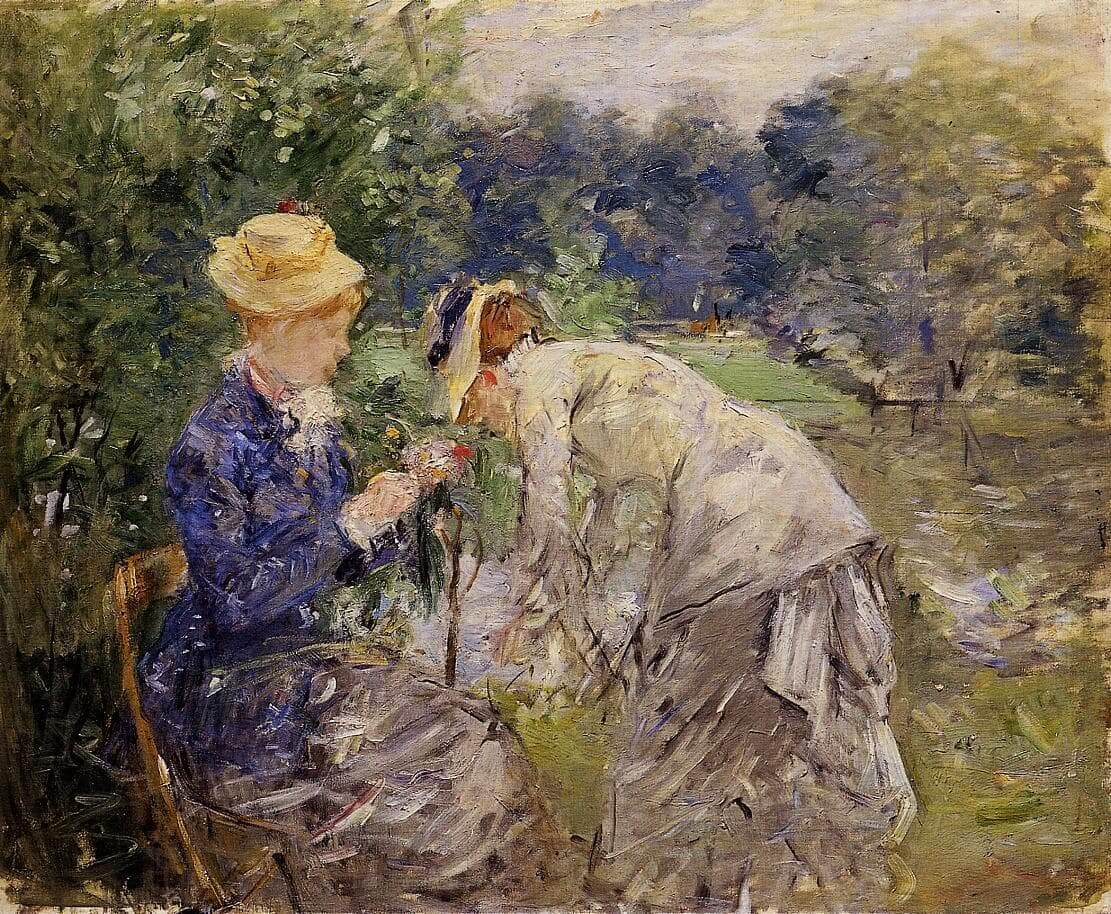 """""""I Boulogneskogen"""" av Berthe Morisot"""